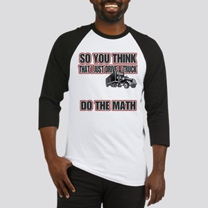 Trucker Do The Math Baseball Jersey