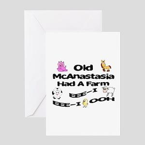 Old McAnastasia Had a Farm Greeting Card