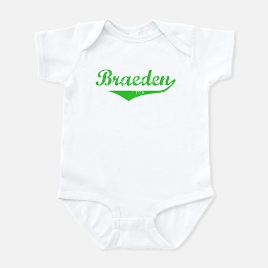 Braeden Vintage (Green) Infant Bodysuit