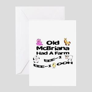 Old McBriana Had a Farm Greeting Card