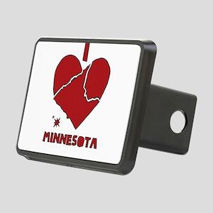I Love Minnesota Rectangular Hitch Cover