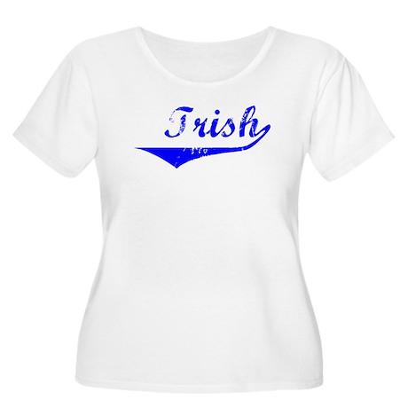 Trish Vintage (Blue) Women's Plus Size Scoop Neck