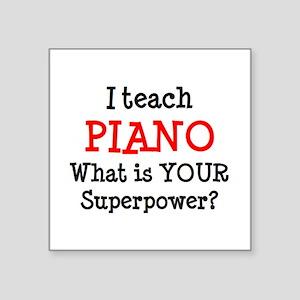 """teach piano Square Sticker 3"""" x 3"""""""