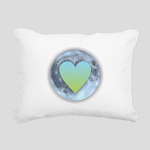 Moonlight Heart Rectangular Canvas Pillow