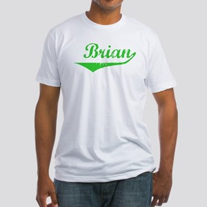 Brian Vintage (Green) Fitted T-Shirt