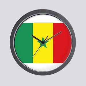 Senegal flag Wall Clock