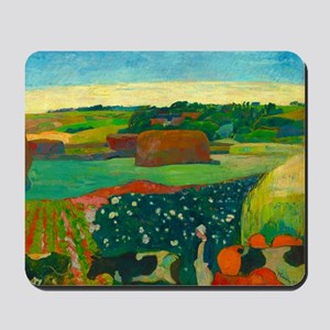 Haystacks in Brittany by Paul Gauguin Mousepad