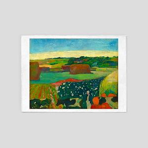 Haystacks in Brittany by Paul Gauguin 5'x7'Area Ru