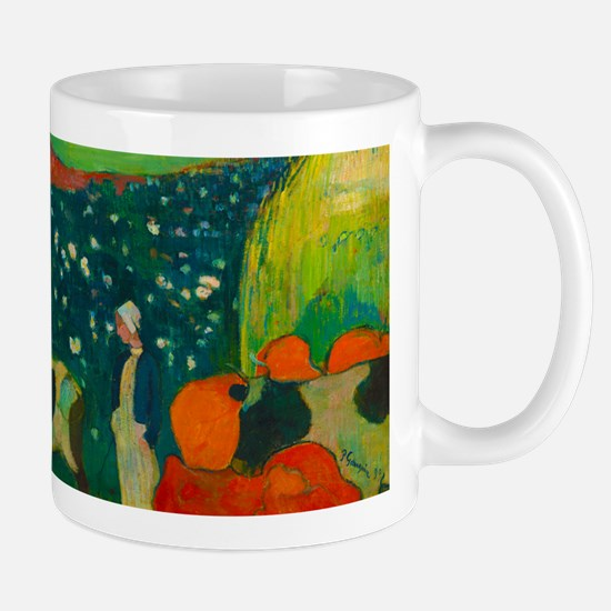 Haystacks in Brittany by Paul Gauguin Mugs