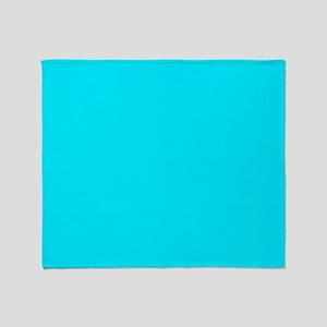 Plain Aqua Blue Throw Blanket