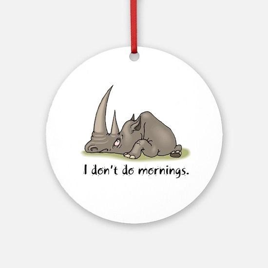 Lazy Rhino Keepsake (Round)