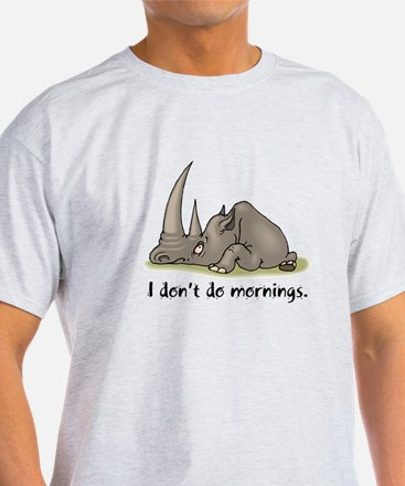 Lazy Rhino Ash Grey T-Shirt