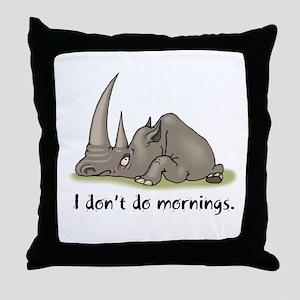 Lazy Rhino Throw Pillow