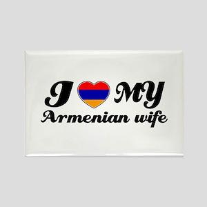 I love my Armenian wife Rectangle Magnet