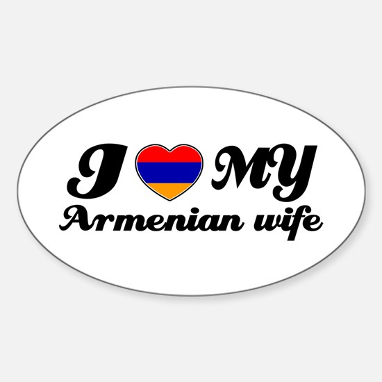 I love my Armenian wife Oval Decal