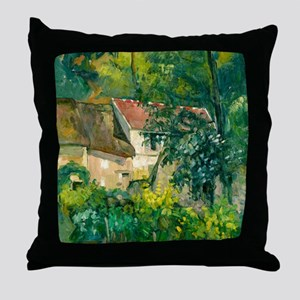 House of Pere Lacroix by Paul Cézanne Throw Pillow