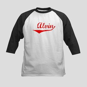 Alvin Vintage (Red) Kids Baseball Jersey