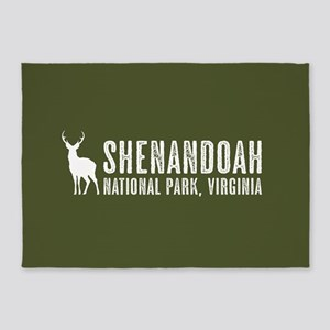 Deer: Shenandoah, Virginia 5'x7'Area Rug