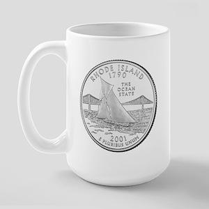 Rhode Island State Quarter Large Mug