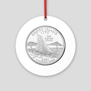 Rhode Island State Quarter Keepsake (Round)