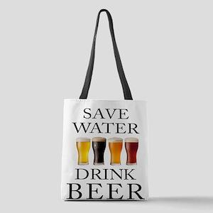 Save Water Drink Beer Polyester Tote Bag