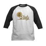 Palm Tree Italy Kids Baseball Jersey