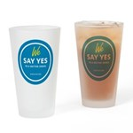 We Say Yes To A Better Israel Drinking Glass