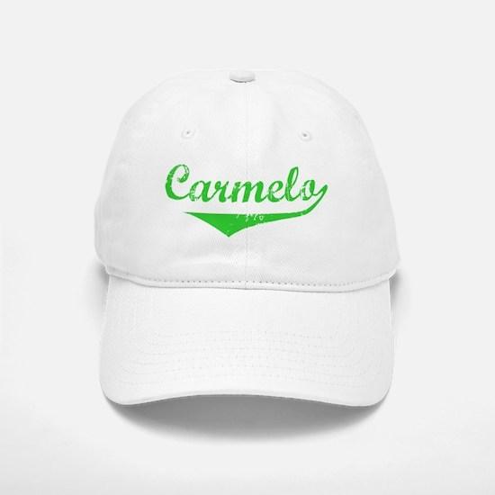 Carmelo Vintage (Green) Baseball Baseball Cap