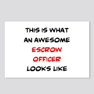 awesome escrow officer Postcards (Package of 8)
