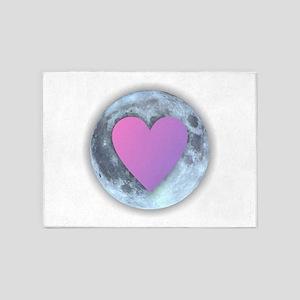Moonlight Heart 5'x7'Area Rug
