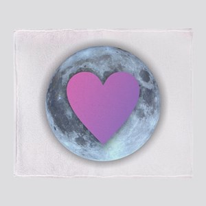 Moonlight Heart Throw Blanket