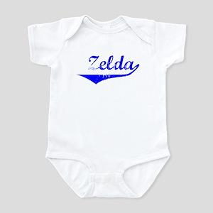 Zelda Vintage (Blue) Infant Bodysuit