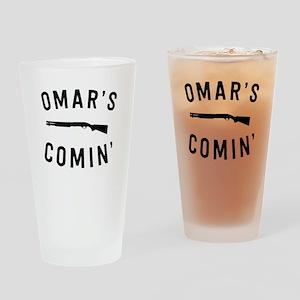 Omar's Comin Drinking Glass
