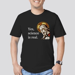 Yes, Science Is Real Organic Men's Fitted T-Sh