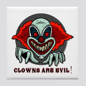 Clowns are Evil Tile Coaster