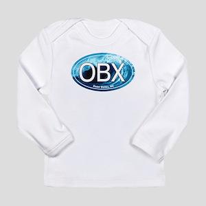 OBX Outer Banks NC Wave Ova Long Sleeve T-Shirt