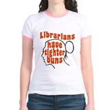Librarians have tighter buns Jr. Ringer T-Shirt