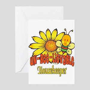 Unbelievable Housekeeper Greeting Card