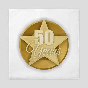 Gold 50 Years Queen Duvet