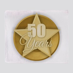 Gold 50 Years Throw Blanket
