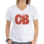 OB Women's V-Neck T-Shirt