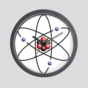 Atom design - color Wall Clock