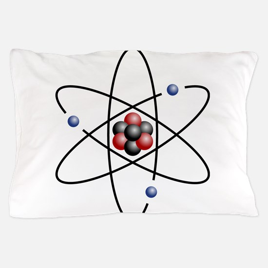 Atom design - color Pillow Case