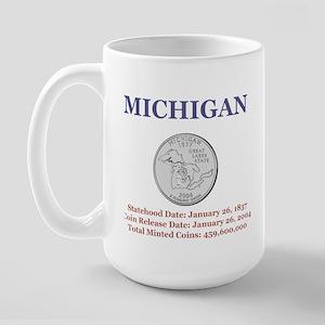 Michigan State Quarter with F Large Mug