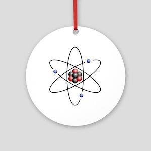 Atom design - color Round Ornament