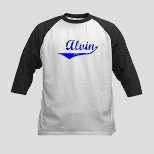 Alvin Vintage (Blue) Kids Baseball Jersey