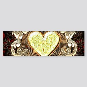 Broken yellow heart Bumper Sticker