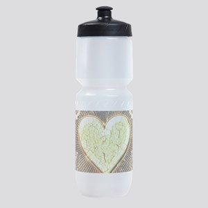 Broken yellow heart Sports Bottle
