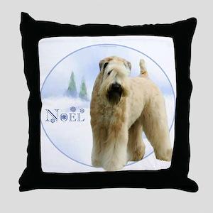 Wheaten Noel Throw Pillow