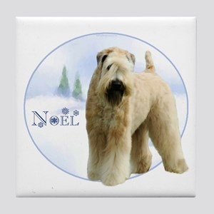 Wheaten Noel Tile Coaster